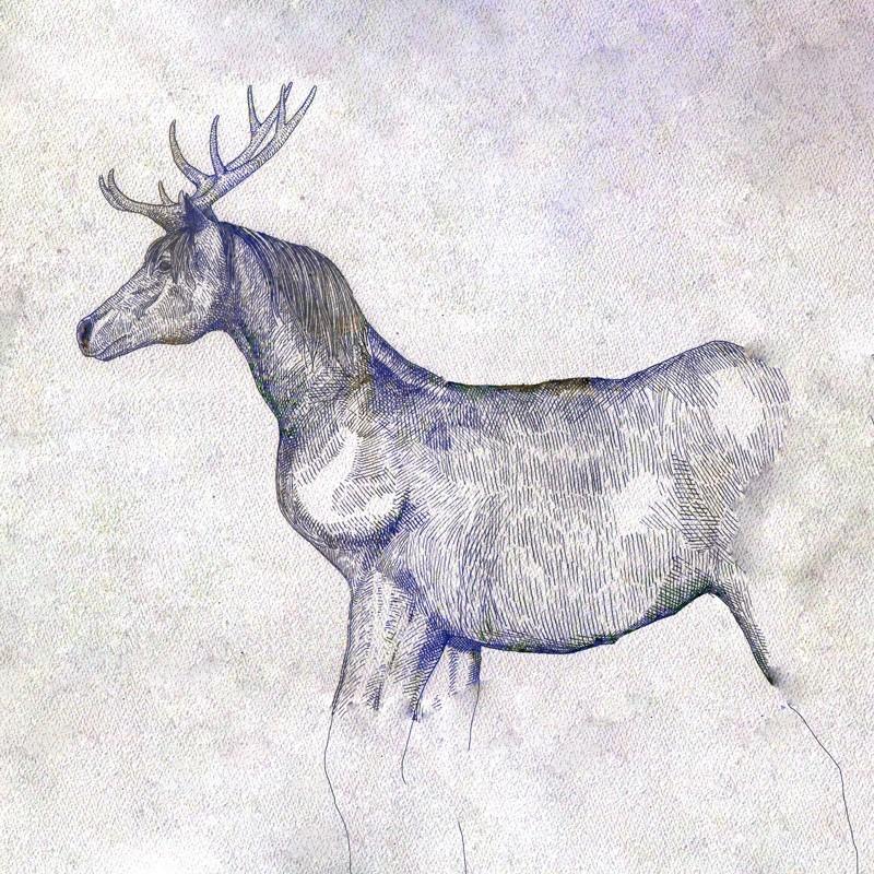 「馬と鹿」
