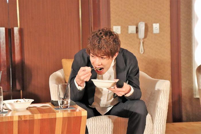 いちばんもりもり食べていた柿澤さん