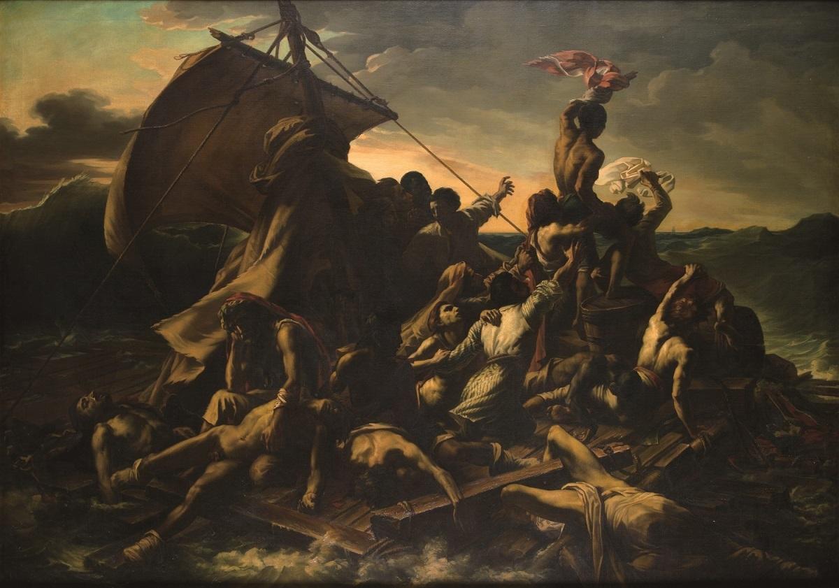 ジャック=エドゥアール・ジャビオ 《メデューズ号の筏(テオドール・ジェリコー作品の模写)》 1854年 油彩・カンヴァス ボルドー美術館蔵 ©Musée des Beaux-Arts, Ville de Bordeaux. Photo L. Gauthier