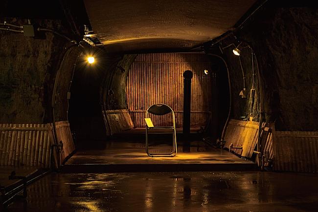 会場のひとつ、「磨洞温泉 涼風荘」  撮影:松原豊