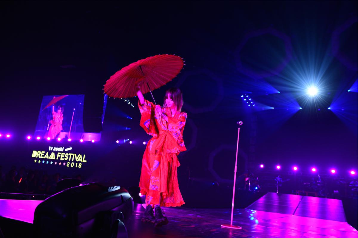 LiSA   ©テレビ朝日 ドリームフェスティバル 2018 / 写真:岸田哲平