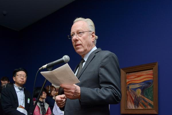 オスロ市立ムンク美術館のスタイン・オラヴ・ヘンリクセン館長