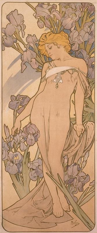 《四つの花「アイリス」》 1897年 堺市