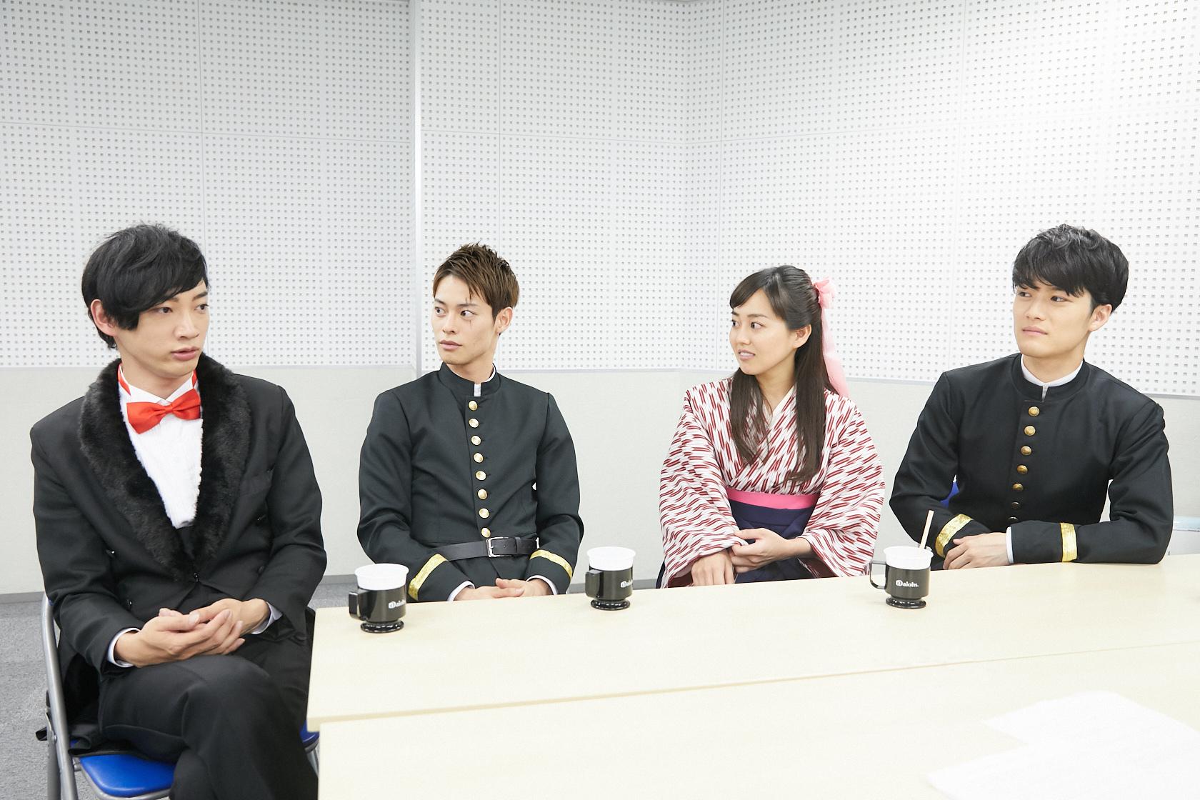 (左から)和合真一、宇野結也、宮﨑香蓮、入江甚儀