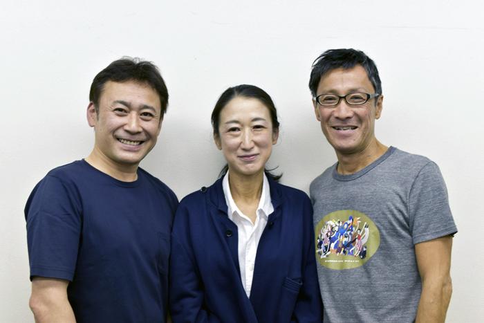 (左から)高木渉・大河内直子・大石継太