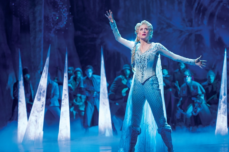 Caissie Levy as Elsa in FROZEN on Broadway. Photo by Deen van Meer ©Disney 海外公演より