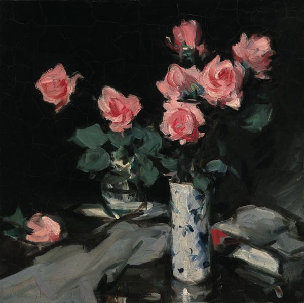 サミュエル・ジョン・ペプロー《バラ》 1900-05年頃、油彩・カンヴァス (C) CSG CIC Glasgow Museums Collection