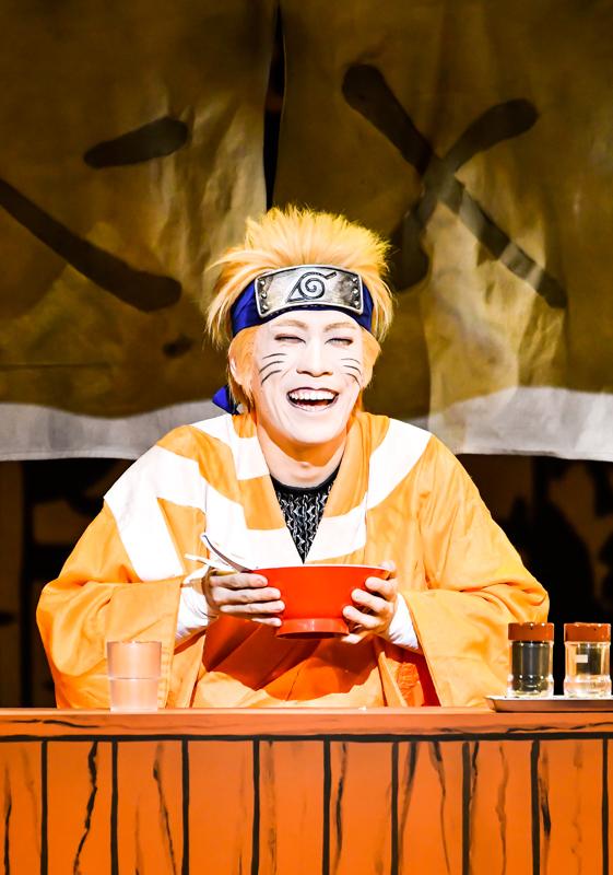 平成30年8月新橋演舞場・新作歌舞伎『NARUTO-ナルト-』うずまきナルト=坂東巳之助 /(C)松竹