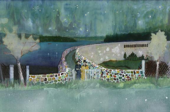 《ガストホーフ・ツァ・ムルデンタールシュペレ》 2000-02年、油彩・キャンバス、196×296cm、シカゴ美術館蔵 (C)Peter Doig. The Art Institute of Chicago , Gift of Nancy Lauter McDougal and Alfred L. McDougal, 2003. 433. All rights reserved, DACS & JASPAR 2020 C3120