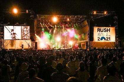 SiM『RUSH BALL 2021』ライブレポート ーー轟音を轟かせ暗闇を切り裂き未来へとバトンを繋ぐ