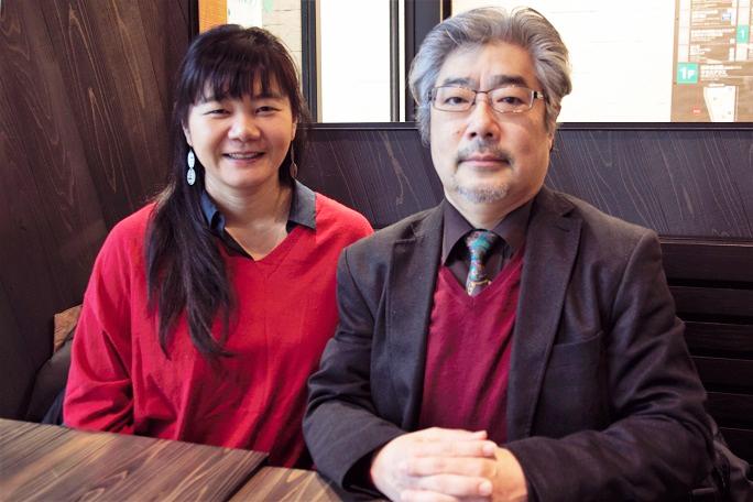 コンサートを企画した石田聖子と、日本センチュリー交響楽団コンマスの後藤龍伸 (C)H.isojima