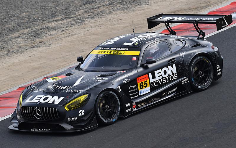 GT300クラスはスポーツカーの展示会だ。写真はタイラウンドで4位に入った「K2 R&D LEON RACING」のLEON CVSTOS AMG
