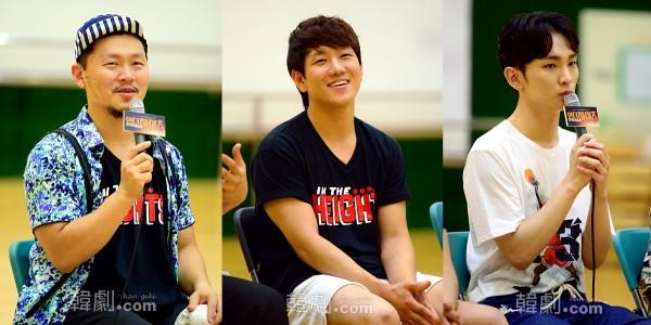 (写真左から)ウスナビ役のヤン・ドングン、チョン・ウォニョン、Key