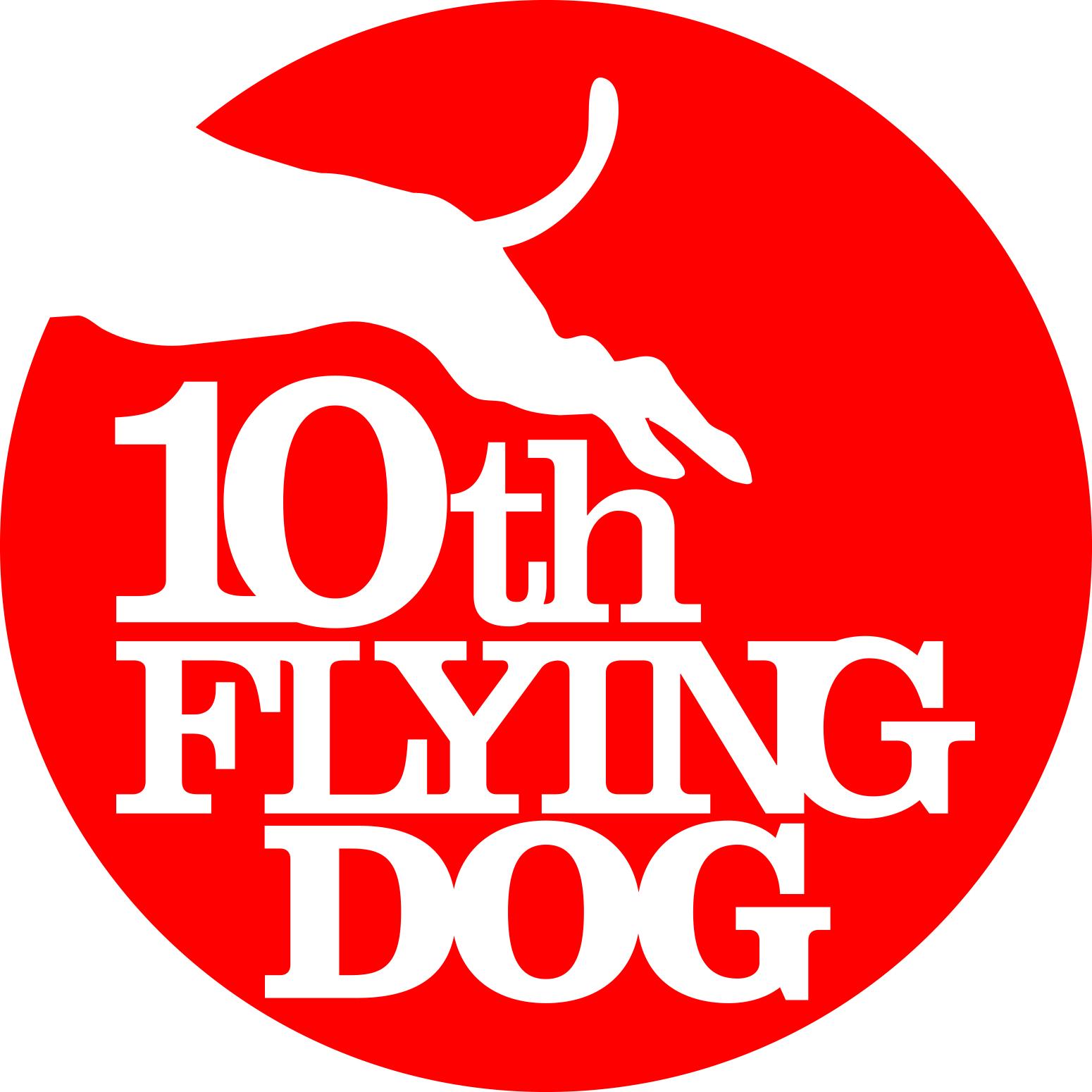フライングドッグ10周年ロゴ