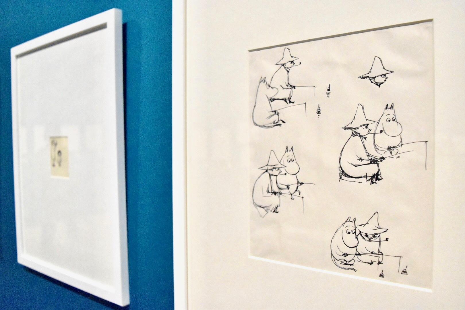 「世界でいちばんさいごの竜」スケッチ 1962年 ムーミン美術館
