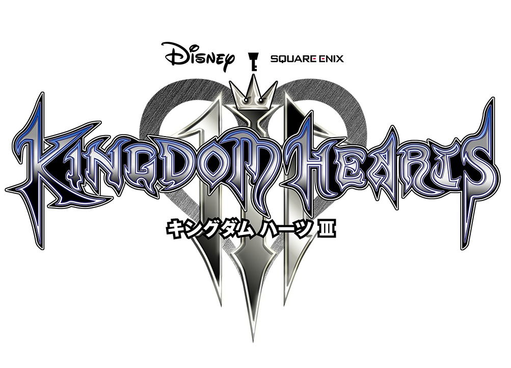 『KINGDOM HEARTS III』タイトルロゴ (c)Disney (c)Disney/Pixar Developed by SQUARE ENIX