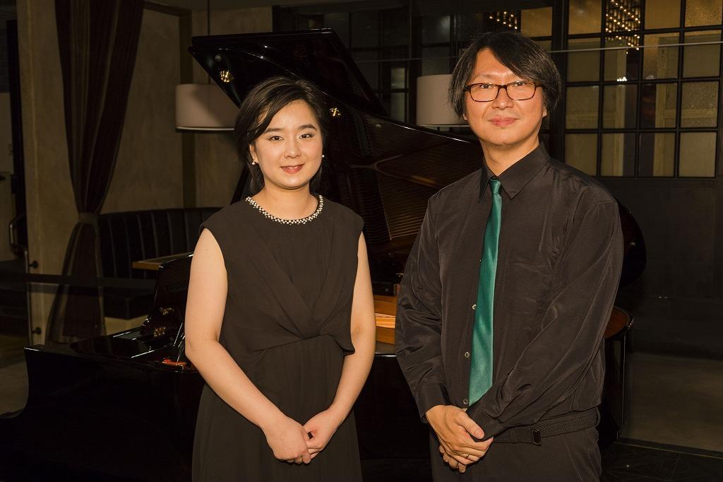 海瀬京子(ピアノ)、小島光博(トランペット)