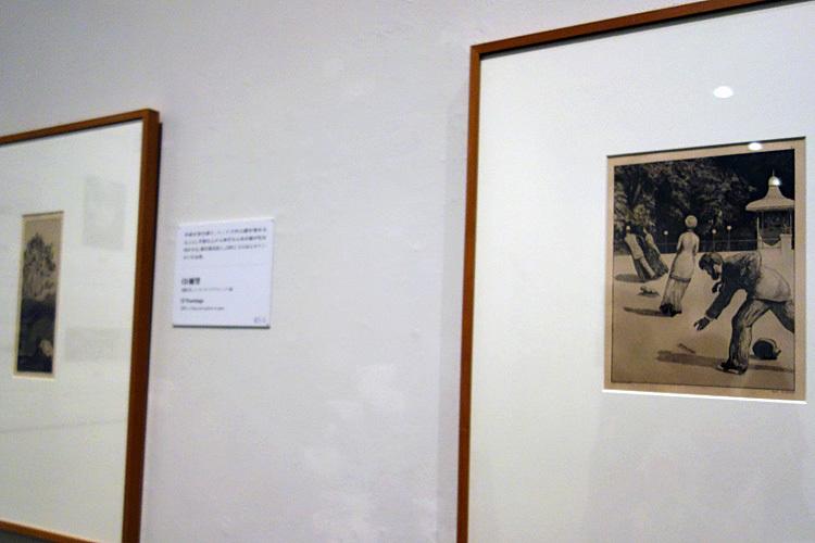(右)マックス・クリンガー《手袋(2)行為》1881年