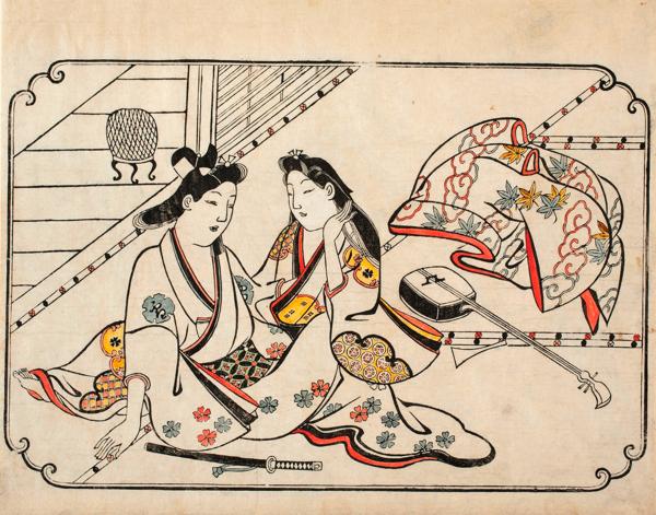 菱川師宣「低唱の後」 延宝(1673-81)後期