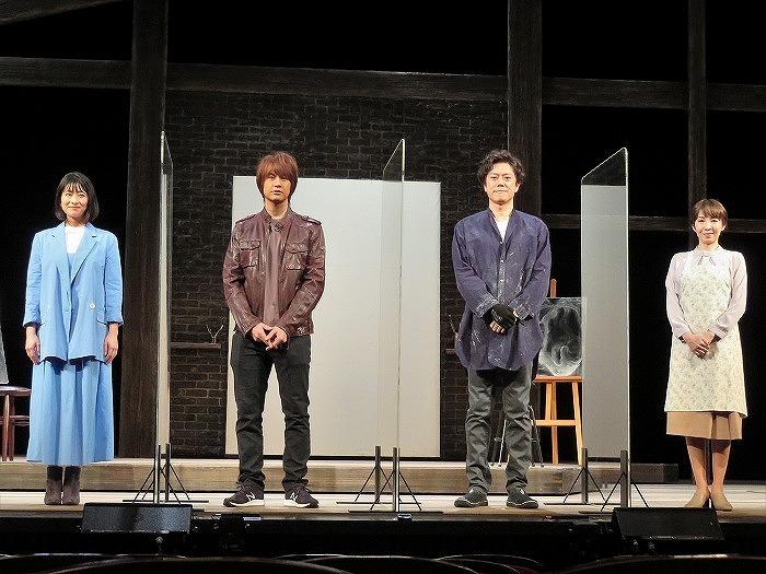 (左から)大塚千弘、浦井健治、山口祐一郎、保坂知寿