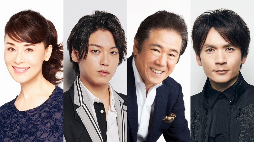 (左から)大地真央、髙木雄也、西岡德馬、長野博