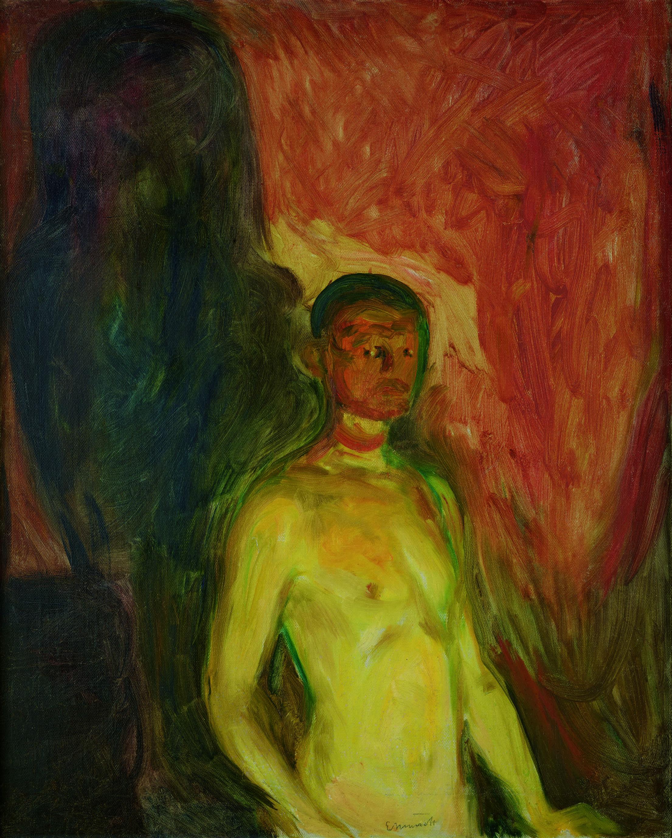 エドヴァルド・ムンク《地獄の自画像》1903年 油彩、カンヴァス 82×66cm