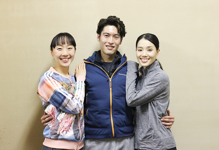(左から)米沢唯、福岡雄大、小野絢子  (撮影:西原朋未)