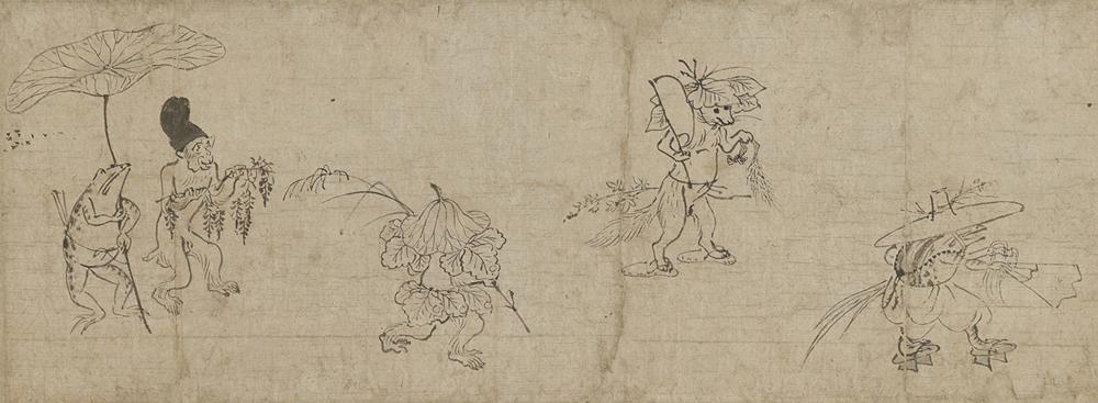 重要文化財「鳥獣戯画断簡」