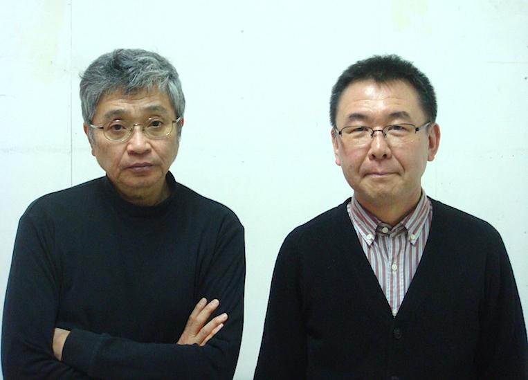 左から・作者の北村想とperky pat presents主宰・演出の加藤智宏