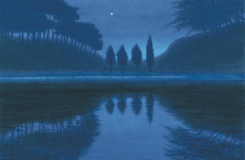 《夕星》1999年、東山魁夷、長野県信濃美術館 東山魁夷館蔵