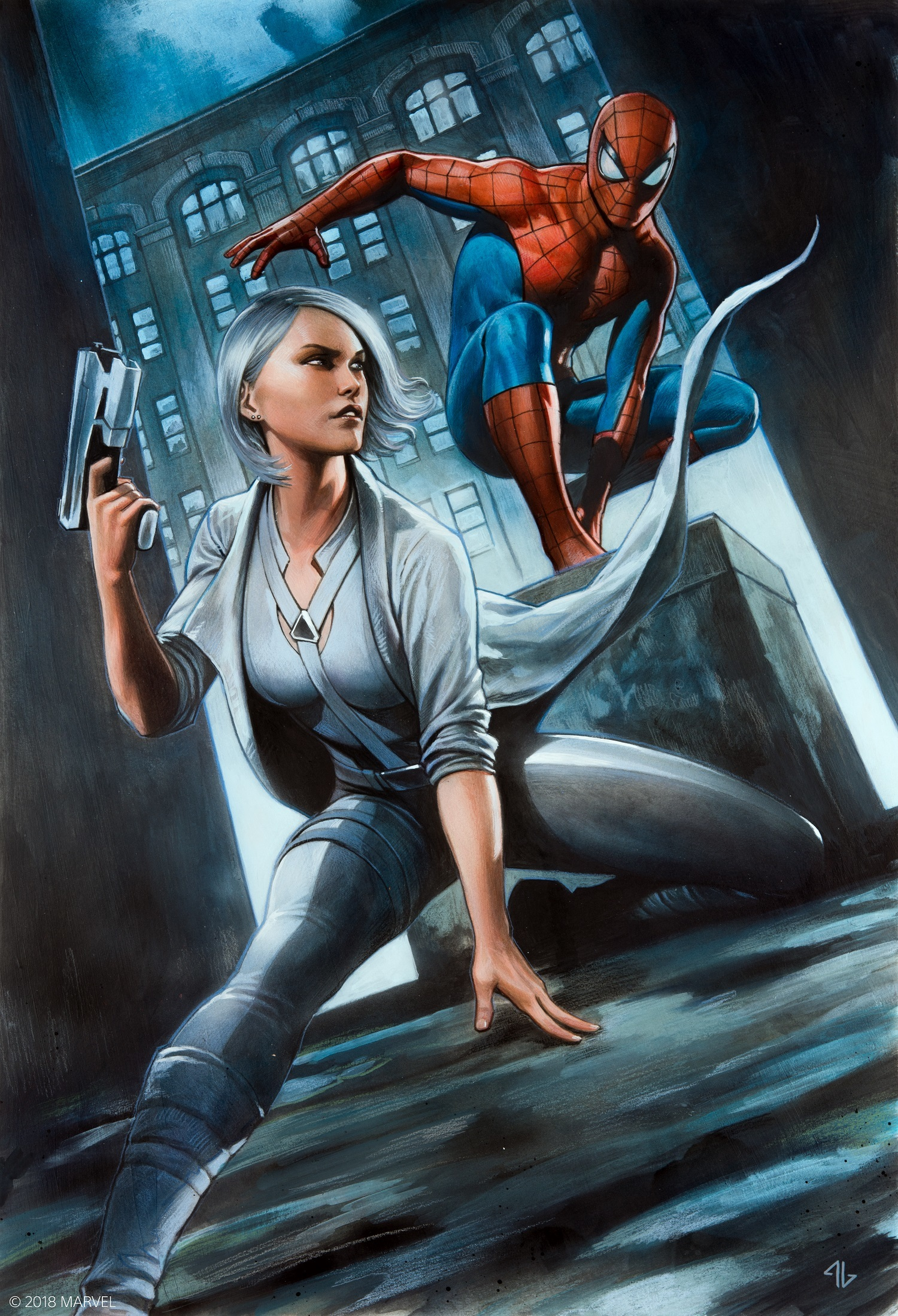 『Marvel's Spider-Man 白銀の系譜』ビジュアル (C)2018 MARVEL (C)2018 Sony Interactive Entertainment LLC. Developed by Insomniac