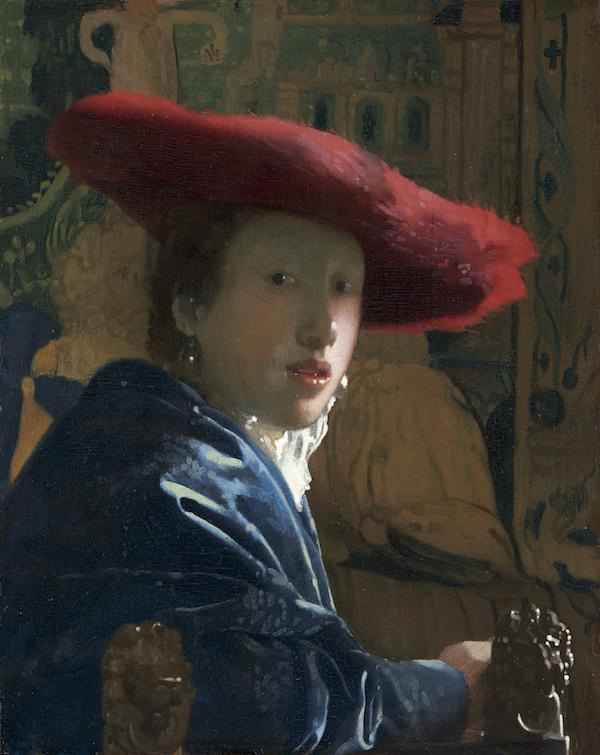 ヨハネス・フェルメール 《赤い帽子の娘》1665-1666年頃  ワシントン・ナショナル・ギャラリー  National Gallery of Art, Washington, Andrew W. Mellon Collection, 1937.1.53  ※12月20日(木)まで展示