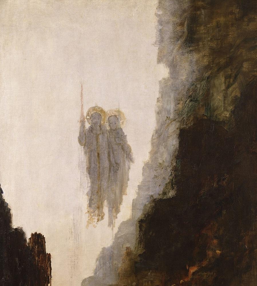 ギュスターヴ・モロー 《ソドムの天使》 1885年頃 油彩・カンヴァス ギュスターヴ・モロー美術館蔵 RMN-Grand Palais / René-Gabriel Ojéda / distributed by AMF