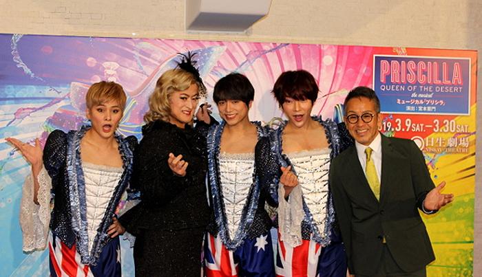 左から古屋敬多(Lead)、陣内孝則、山崎育三郎、ユナク、宮本亜門