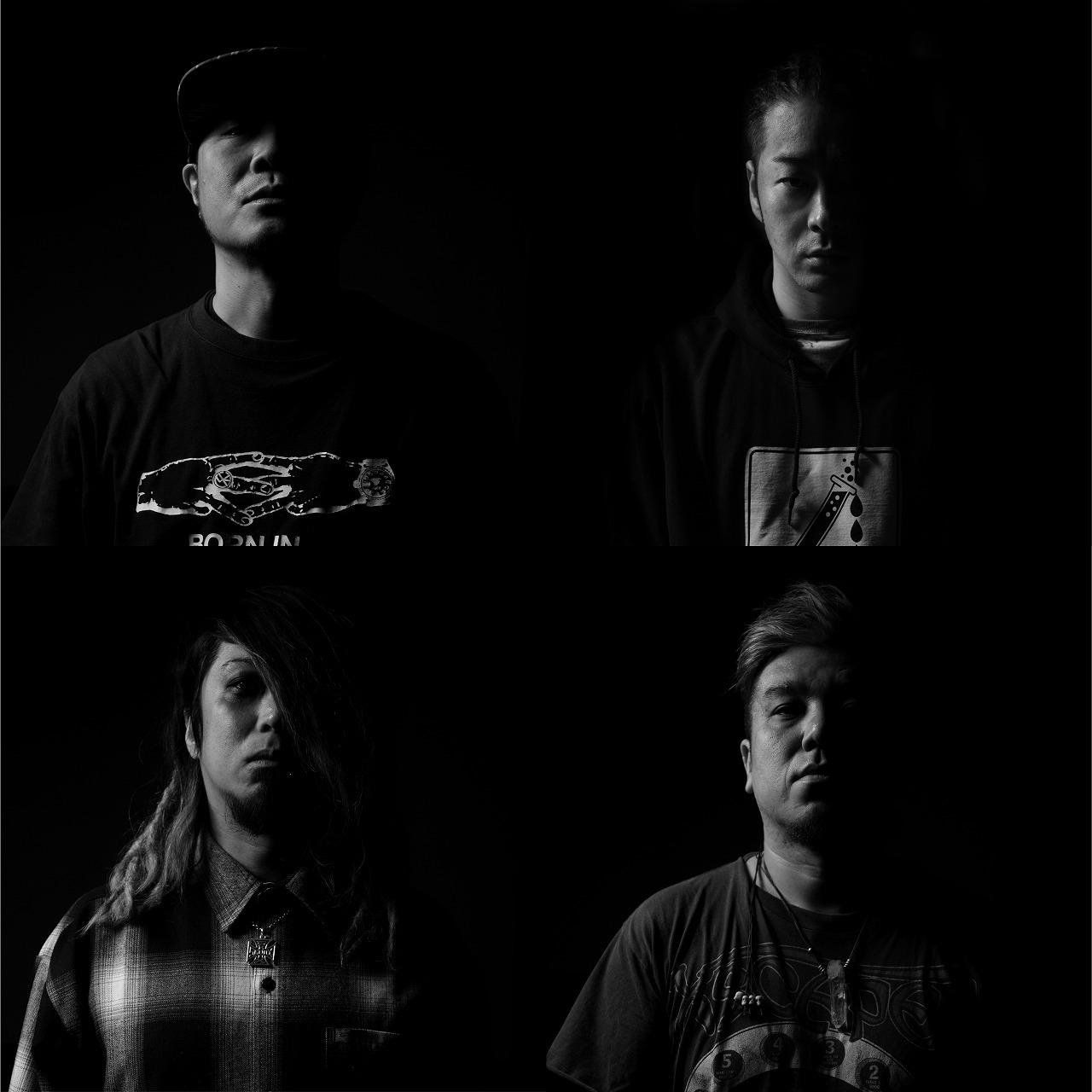 KYONO BAND 写真上(左→右)KYONO、MIYA。下(左→右)HIROMITSU、DUTTCH