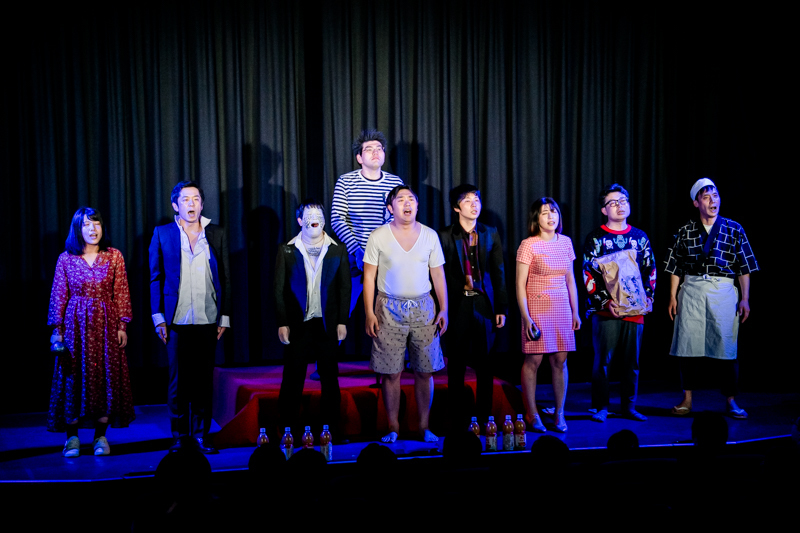 劇団「地蔵中毒」(2020年2月@ユーロライブ「地蔵中毒寄席」より)  (撮影:塚田史香)