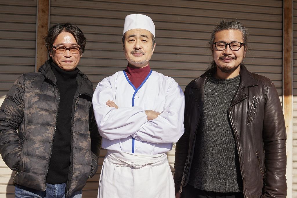 (左から)天久聖一、松尾スズキ、大谷皿屋敷