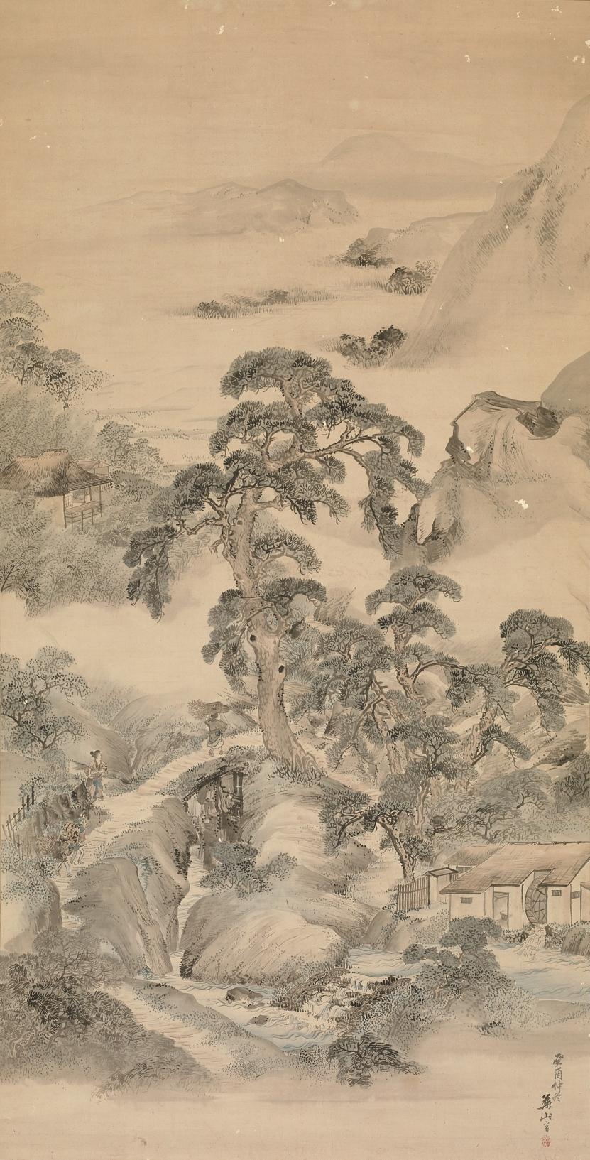 横山華山《城州白河之図》文化10(1813)年 個人蔵