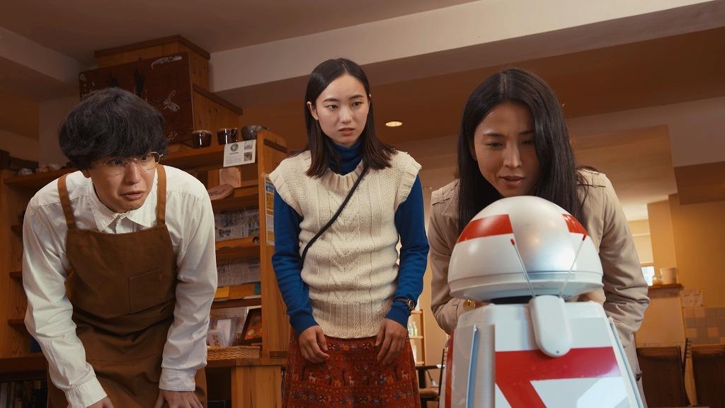 『AI棒』場面写真(左から)諸岡航平、日下七海、早織