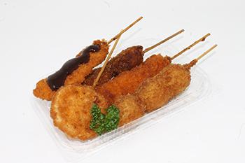 串揚げ5点盛り 味噌カツソース(税込400円)