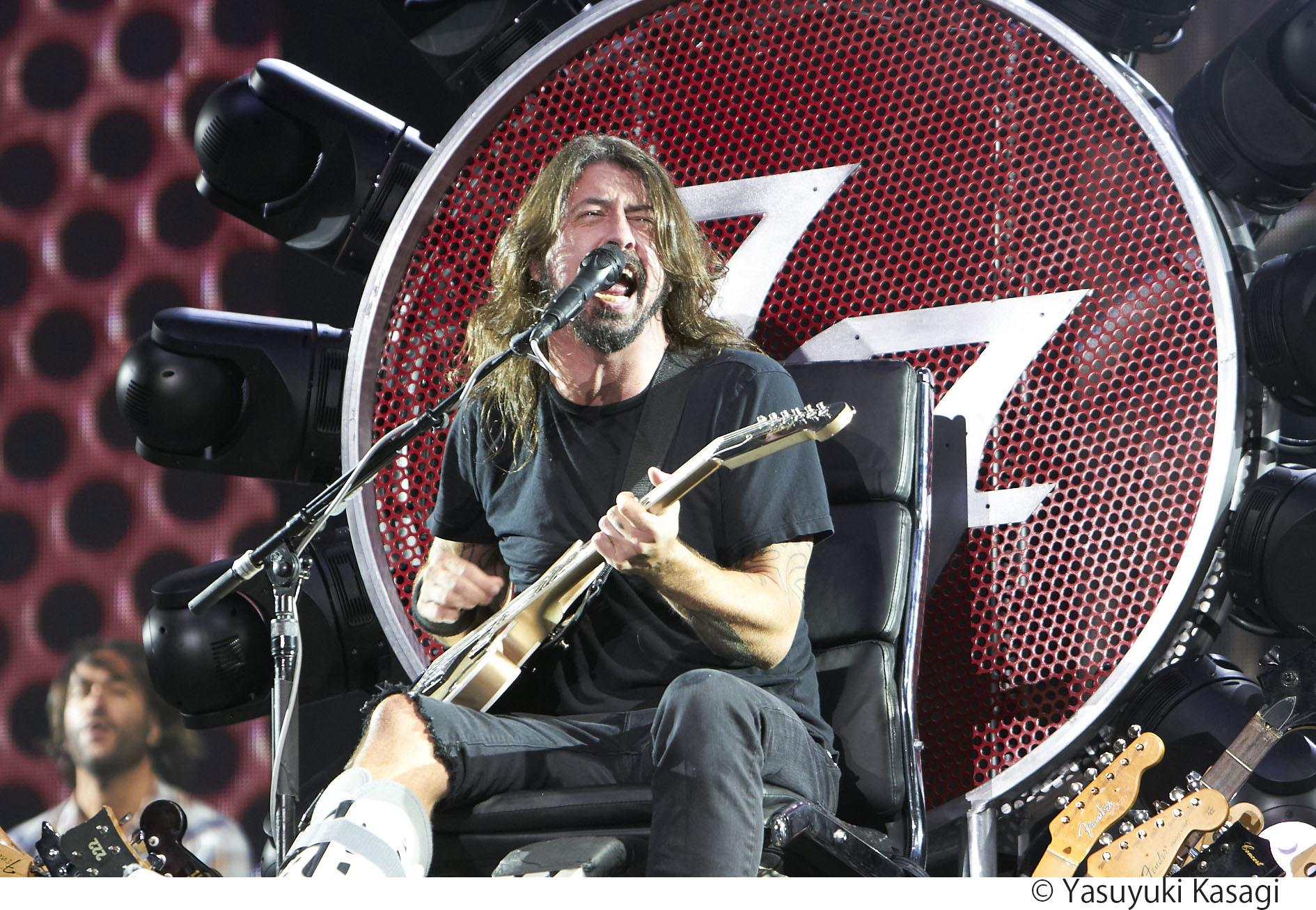 Foo Fighters  撮影=Yasuyuki Kasagi(2015年)