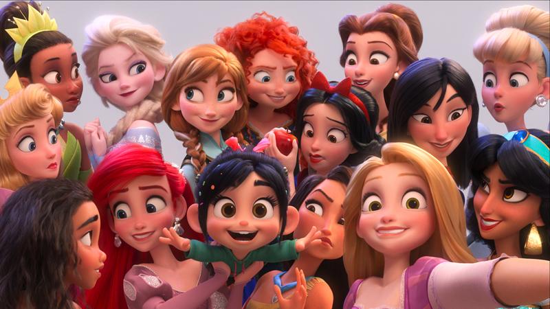 『シュガー・ラッシュ:オンライン』セルフィー画像 (c)2018 Disney. All Rights Reserved.