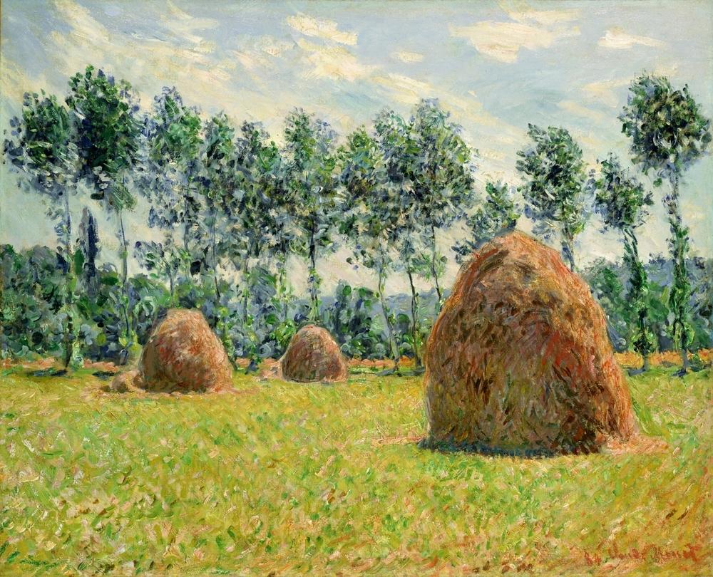 クロード・モネ《ジヴェルニーの積みわら》1884年 ポーラ美術館