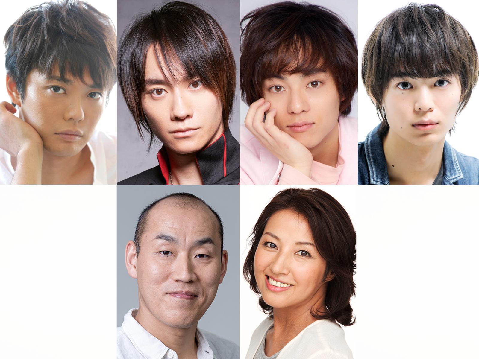 『宝塚BOYS』上段左から:藤岡正明、良知真次、永田崇人、溝口琢矢/下段左から:山西 惇、愛華みれ