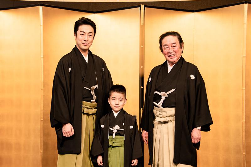 左から尾上菊之助、寺嶋和史、尾上菊五郎。