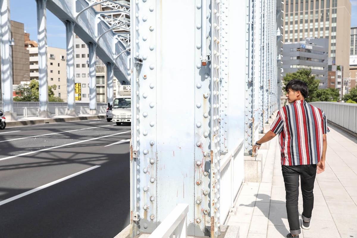 夜景フォトのメッカ、永代橋もいい風情。ちなみに読み方は「えいたいばし」