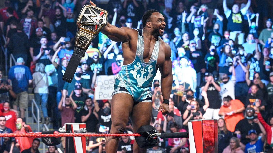 新WWE王者となったビッグE ©2021 WWE, Inc. All Rights Reserved