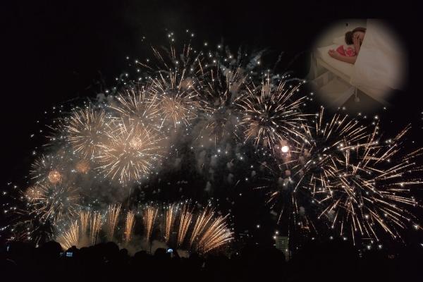初心者シマザキと淀川の花火