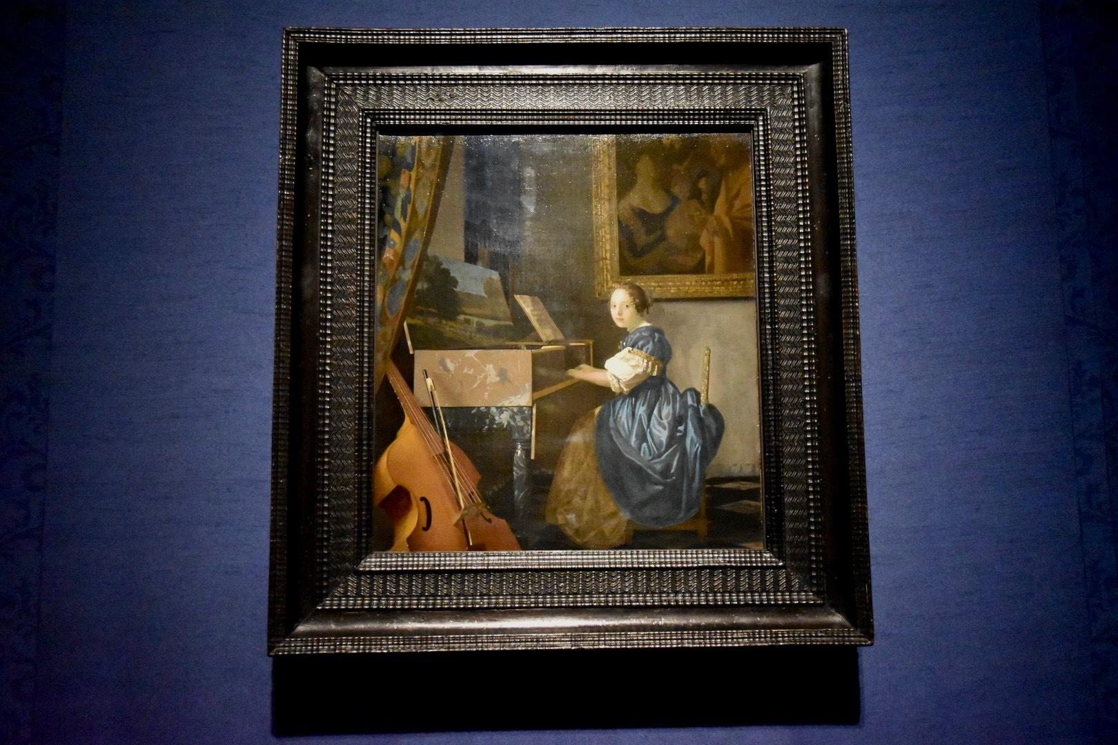 ヨハネス・フェルメール《ヴァージナルの前に座る若い女性》1670-72年頃