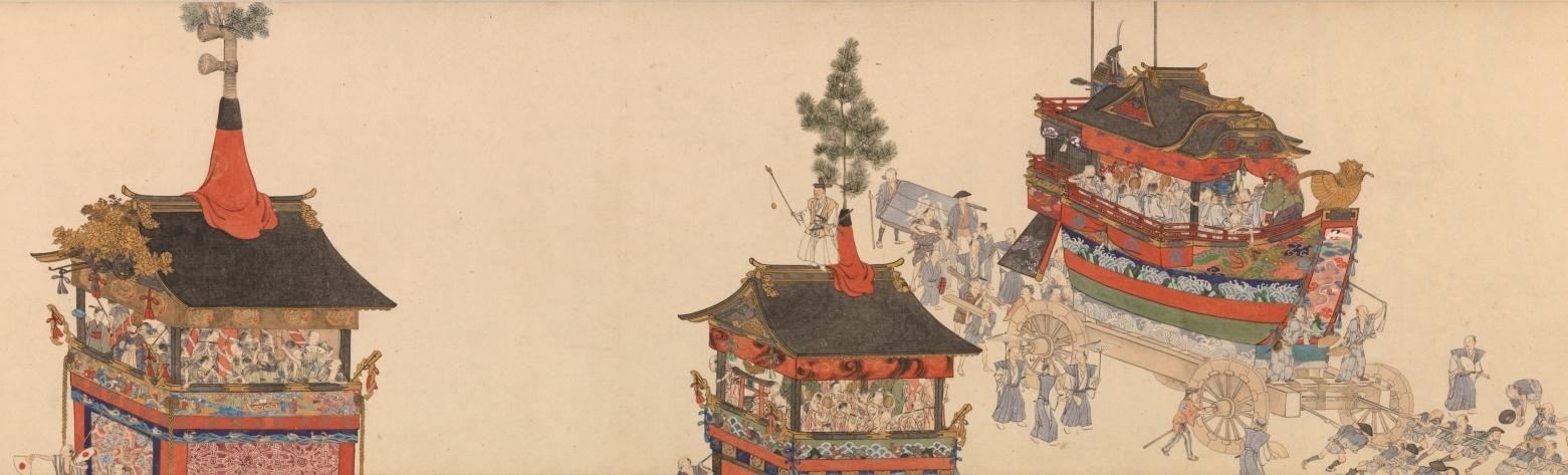 横山華山《祇園祭礼図巻》上巻部分 天保6-8(1835-37)年 個人蔵